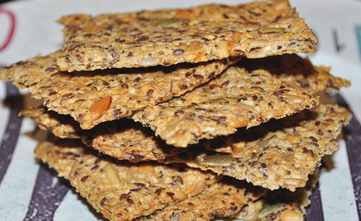 knapperige glutenvrije crackers recept